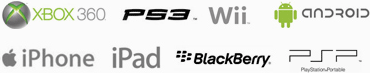 Compat With - Xbox Ps3 Wii Android iphone Ipad Blackberry Psp